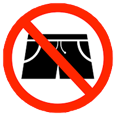 swim shorts prohibited